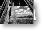Shed Photo Greeting Cards - Homestead Greeting Card by Bob Christopher