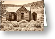 Gold Rush Greeting Cards - Homestead Greeting Card by Cheryl Young