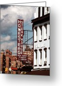 New York New York Com Greeting Cards - Homestead Steakhouse Greeting Card by John Rizzuto