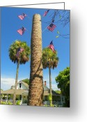 Cabbage Palm Trees Greeting Cards - Hometown Fourth Greeting Card by Sheri McLeroy