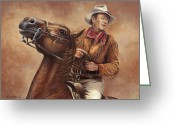 John Wayne Greeting Cards - Hondo Greeting Card by Kim Lockman