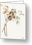Flower Still Life Prints Painting Greeting Cards - Honestly Greeting Card by Stephie Butler