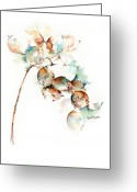 Flower Still Life Prints Greeting Cards - Honesty Greeting Card by Stephie Butler