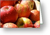Ripened Fruit Greeting Cards - Honey Crisp Collection Greeting Card by Susan Herber