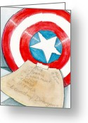 Avengers Mixed Media Greeting Cards - Honey Do List Greeting Card by Kenya Thompson