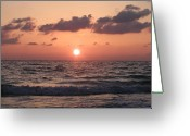 Tropical Sunset Greeting Cards - Honey Moon Island Sunset Greeting Card by Bill Cannon