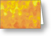 Sun Abstract Digital Art Greeting Cards - Honey Greeting Card by Pet Serrano