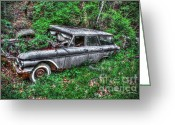 Blue Buick Greeting Cards - Honey-Where Did I Park The Car Greeting Card by Dan Stone