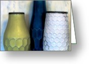 Honeycomb Greeting Cards - Honeycomb Vases Greeting Card by Marsha Heiken