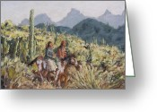 Landscape Posters Greeting Cards - Honeymoon Trail Greeting Card by Gretchen Price