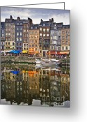 Showcase Greeting Cards - Honfleur France Greeting Card by Ann Garrett