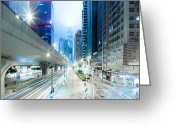 Long Street Greeting Cards - Hong Kong Sheung Wan Greeting Card by Spreephoto.de
