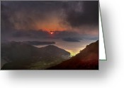 Gabor Pozsgai Greeting Cards - Hongpo sunset South Korea  Greeting Card by Gabor Pozsgai