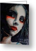 Portraiture Greeting Cards - Honky Tonk Woman Greeting Card by Paul Lovering