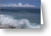 Molokai Greeting Cards - Honokohau Aloalo Aheahe D T Fleming Beach Maui Hawaii Greeting Card by Sharon Mau