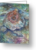 Sea Turtle Greeting Cards - Honu Ill Greeting Card by Kerri Ligatich