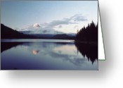 Trillium Lake Greeting Cards - Hood Trillium Lake Greeting Card by Bob Groshart