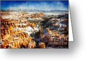 Inspiration Point Greeting Cards - Hoodoo Nation I Greeting Card by Irene Abdou