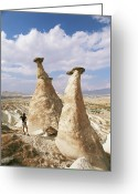 Male Forms Greeting Cards - Hoodoo Rock Formations Greeting Card by Bjorn Svensson
