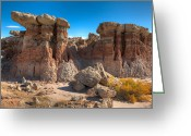 Scrub Greeting Cards - Hoodoos At Gooseberry Desert Wyoming Greeting Card by Steve Gadomski