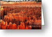 Ponderosa Greeting Cards - Hoodoos  at Sunrise Greeting Card by Robert Bales