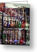 Hookah Greeting Cards - Hookah Pipes Greeting Card by John Rizzuto