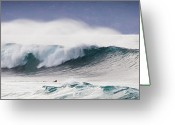 Surf Lifestyle Greeting Cards - Hookipa Maui Big Wave Greeting Card by Denis Dore