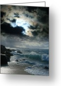 Pacific Art Greeting Cards - Hookipa Waiola  O ka lewa i luna ua paaia he lani Maui Hawaii  Greeting Card by Sharon Mau