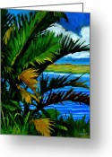 Restful Greeting Cards - Hoomaluhia 1 Greeting Card by Douglas Simonson