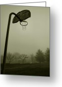 Misty Prints Prints Greeting Cards - Hoop Dream Greeting Card by Steven Ainsworth