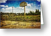 Scott Greeting Cards - Hoop Dreams Greeting Card by Scott Pellegrin