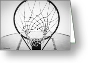 Sports Art Greeting Cards - Hoop Dreams Greeting Card by Susan Stone