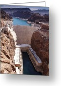 Az Greeting Cards - Hoover Dam II Greeting Card by Ricky Barnard