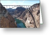 Dam Greeting Cards - Hoover Dam Greeting Card by Marianna Sulic