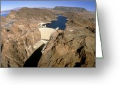 Hydroelectric Greeting Cards - Hoover Hydroelectric Dam, Colorado River, Usa Greeting Card by David Parker