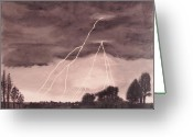 Grey Clouds Sculpture Greeting Cards - Hope after the storm Greeting Card by Dawn Hay