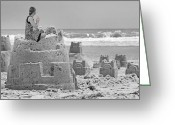 Sandcastle Greeting Cards - Hope Greeting Card by East Coast Barrier Islands Betsy A Cutler