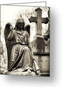 Angel Statue Greeting Cards - Hope From Above Greeting Card by John Rizzuto