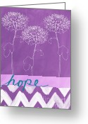 Motivation Greeting Cards - Hope Greeting Card by Linda Woods