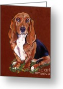 Dog Prints Pastels Greeting Cards - Hope Greeting Card by Pat Saunders-White