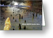 Terry Digital Art Greeting Cards - Hope Greeting Card by Terry Wallace