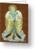 Archangel Greeting Cards - Hopening Greeting Card by Olena Kulyk
