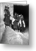 Hopi Greeting Cards - Hopi Maidens, 1906 Greeting Card by Granger