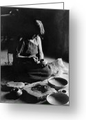 Hopi Greeting Cards - HOPI POTTER, c1906 Greeting Card by Granger
