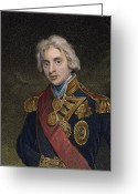 Lord Admiral Nelson Greeting Cards - Horatio Nelson (1758-1805) Greeting Card by Granger