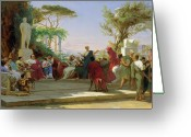Neo-classical Greeting Cards - Horatius Reading his Satires to Maecenas Greeting Card by Fedor Andreevich Bronnikov
