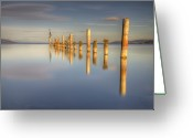 Horizon Over Water Greeting Cards - Horizon Greeting Card by Philippe Saire - Photography