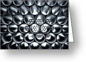 Honeycomb Greeting Cards - Horizontal Tubes Greeting Card by Kenneth Mucke