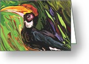 Hornbill Greeting Cards - Hornbill Greeting Card by Rabi Khan
