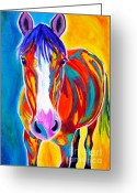 Stylized Art Greeting Cards - Horse - Pistol Greeting Card by Alicia VanNoy Call
